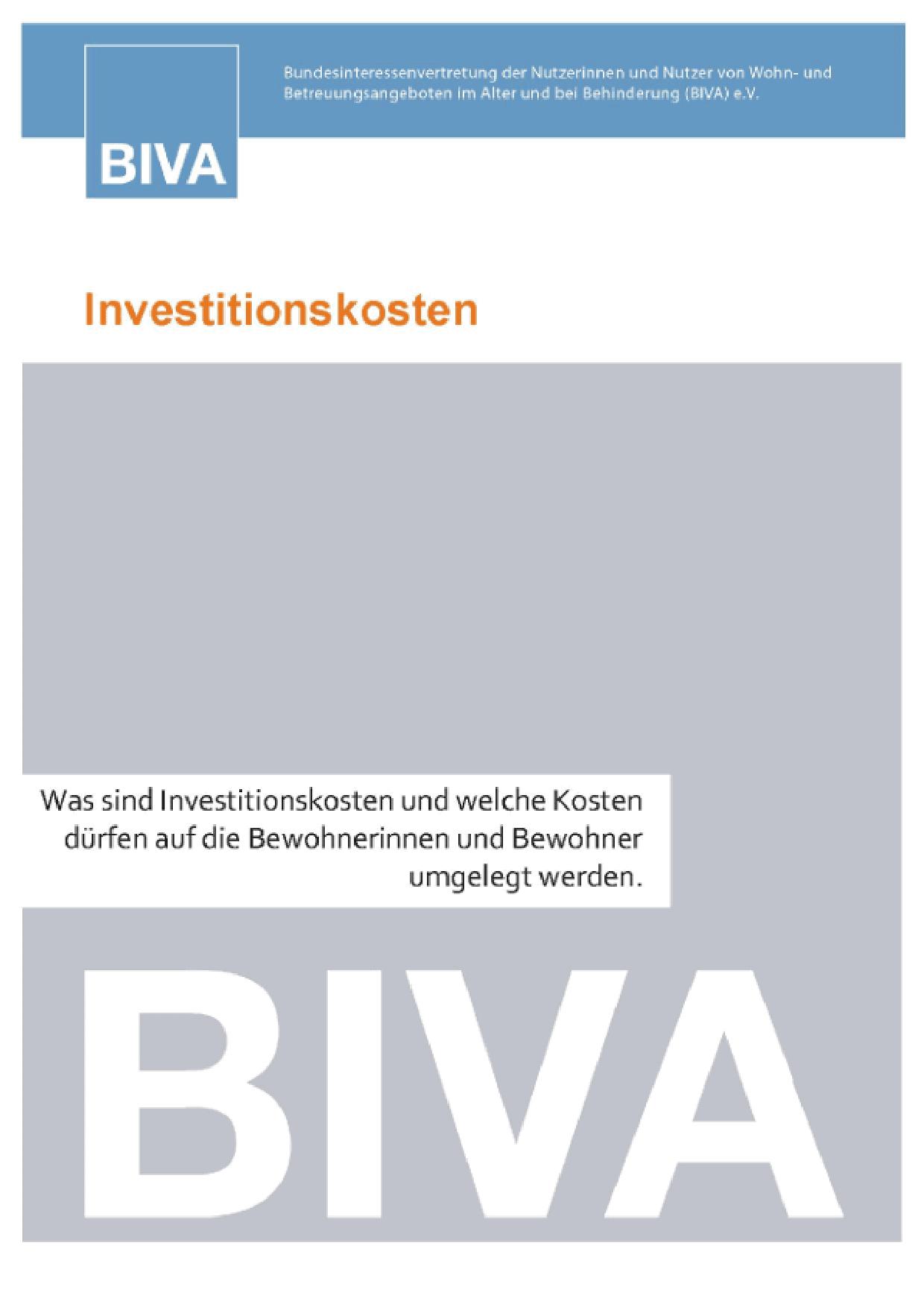Buchtitel Investitionskosten
