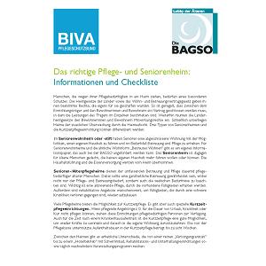 Cover Checkliste Pflegeheim