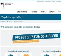 Screenshot Pflegeleistungshelfer BMG