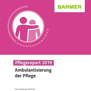Cover des Barmer Pflegereports 2019