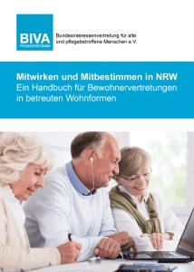 """Deckblatt BIVA-Broschüre """"Mitwirken und Mitbestimmen in NRW"""""""