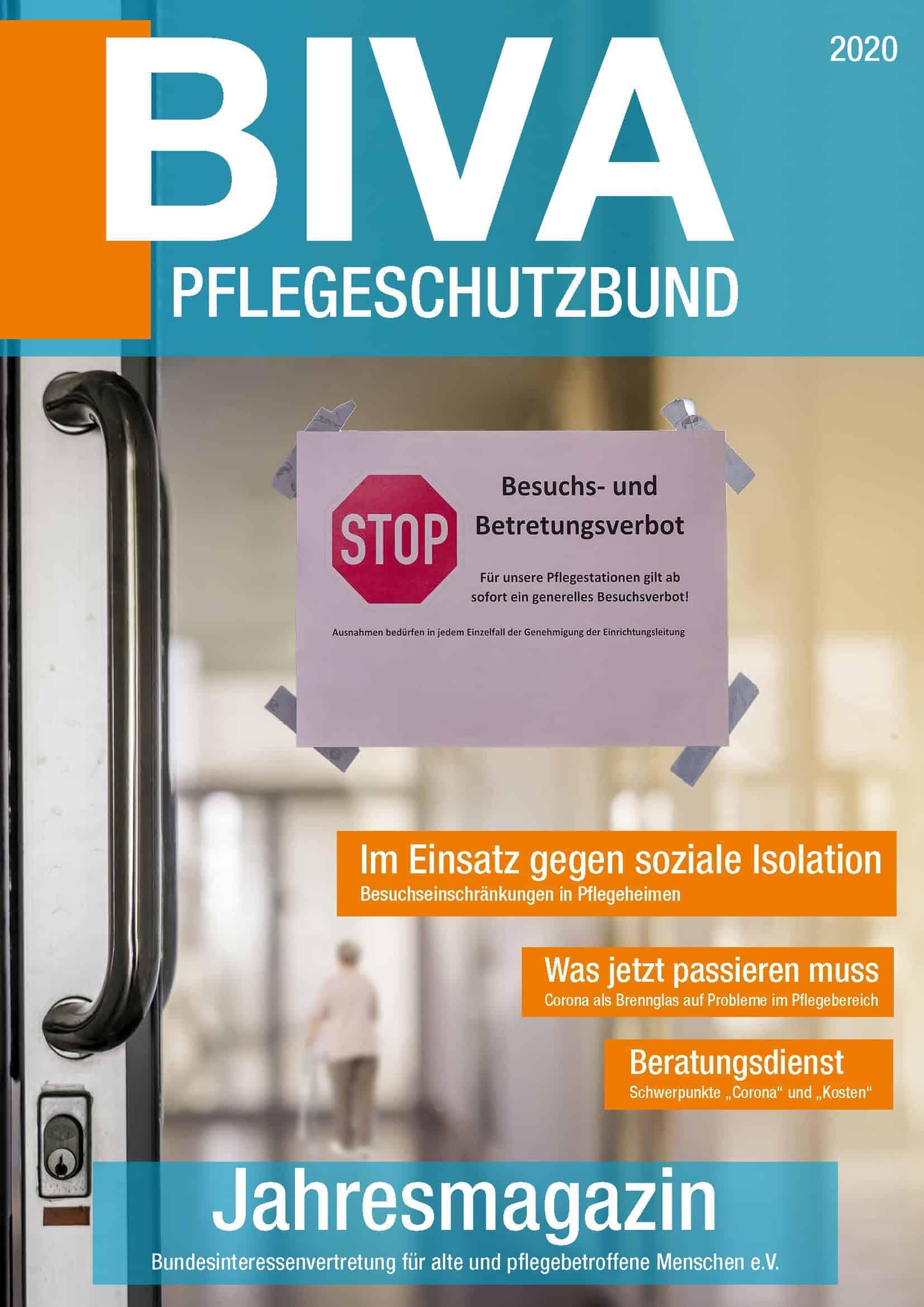 Cover BIVA-Jahresmagazin 2020