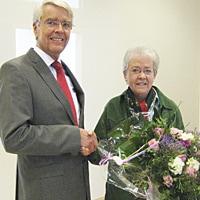 Verabschiedung der langjährigen Geschäftsführerin Katrin Markus durch Dr. Manfred Stegger