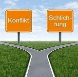 Kreuzung Konflikt-Schlichtung