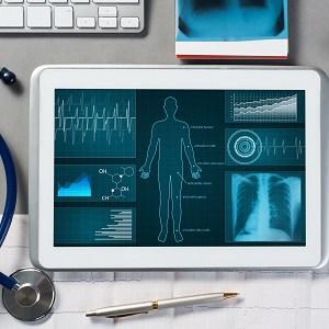 Patientendaten auf Tablet